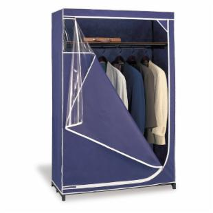 Neu Home Deluxe Storage Wardrobe - Navy with White Trim