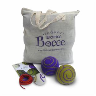 BoHo Bocce Ball Set in Cotton Tote Bag