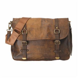 OiOi Jungle Leather Satchel Daddy Diaper Bag from diaperbags.com