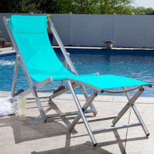 Alfresco Quick Dry Folding Chair & Footrest