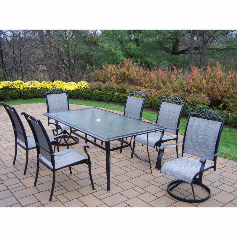 Outdoor Garden Oasis Wallace 5 Piece Sling High Dining Set Limited Availability