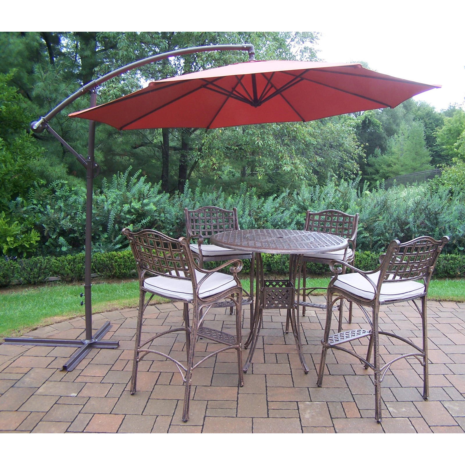 30 wonderful patio bar sets with umbrella for Patio furniture sets with umbrella