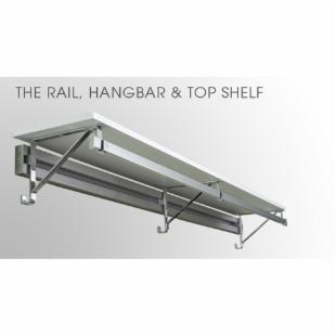 Arrange A Space Rail &amp; Hangbar with 14 in. Top Shelf - 73-84 in.