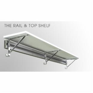 Arrange A Space Rail &amp; 12 in. Top Shelf with Brackets - 24-36 in.