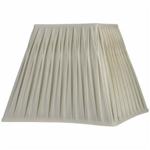 Fenn Cream Pinched Pleat Square Lamp Shade