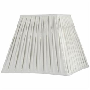 Fenn Vanilla Pinched Pleat Square Lamp Shade