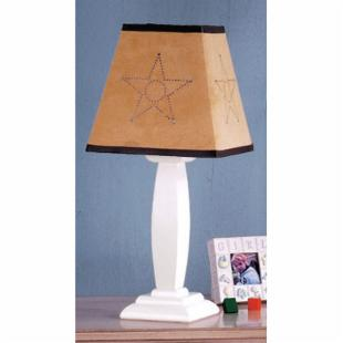 Laura Ashley Square Accent Lamp with Cowboy Shade