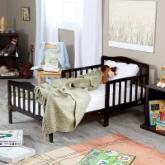 The Orbelle Contemporary Solid Wood Toddler Bed - Cappuccino