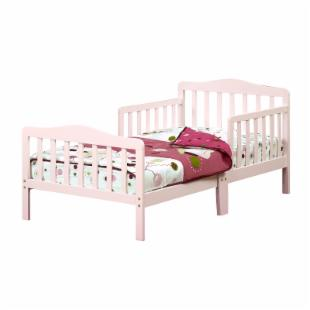 The Orbelle Contemporary Solid Wood Toddler Bed - Pink