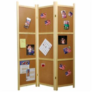 Cork Board Room Divider