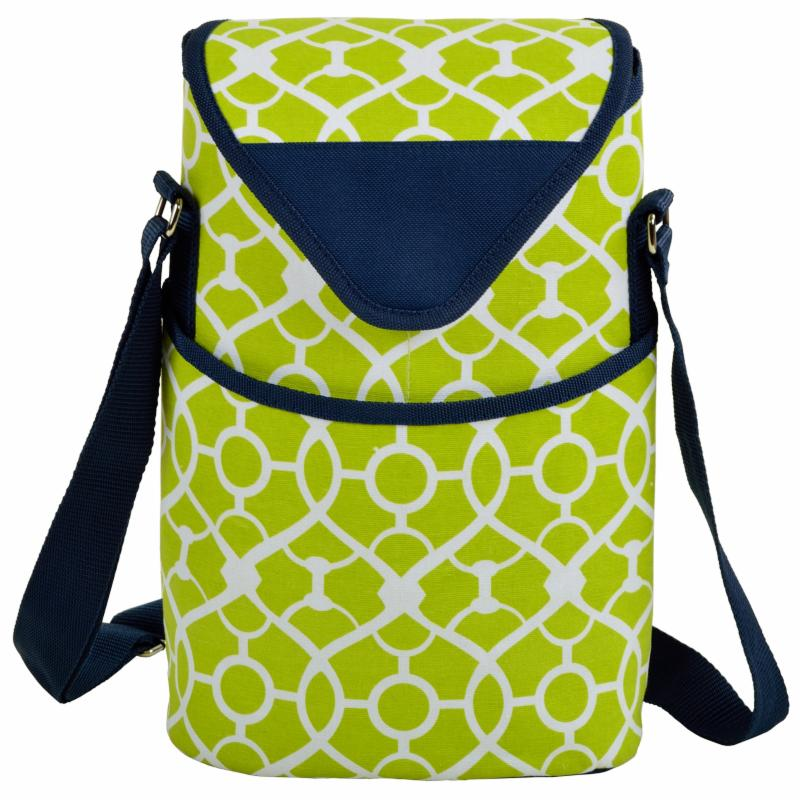 Picnic At Ascot Wine/Water Two Bottle Tote with Shoulder Strap