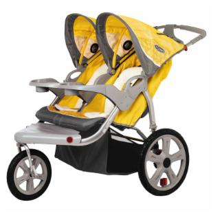 InSTEP Grand Safari Swivel Double Jogging Stroller
