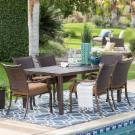 Hanover Lavallette Steel 7 Piece Rectangular Patio Dining