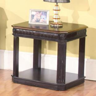Parker House End Table - Black/Espresso