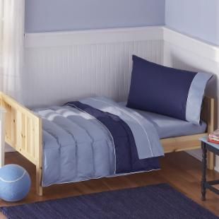 Pem America Crispy Blue 4 Piece Toddler Bedding Set