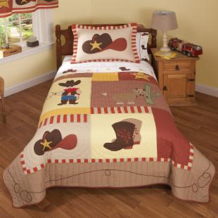 Pem America Cowboys Quilt Set
