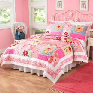Pem America Olivia Pink Quilt Set