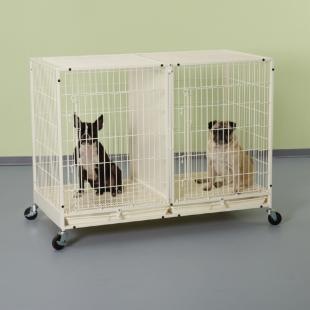 ProSelect Color Modular Cage X-Tall with Plastic Tray - Ivory