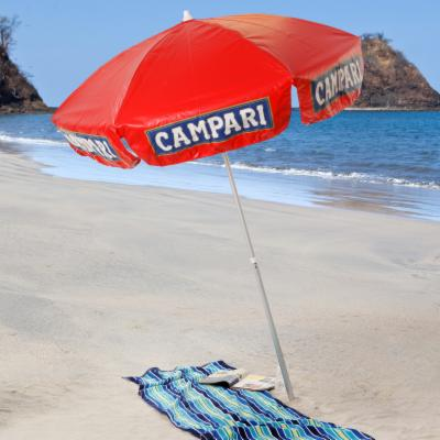 6 ft. Campari Logo Beach Umbrella