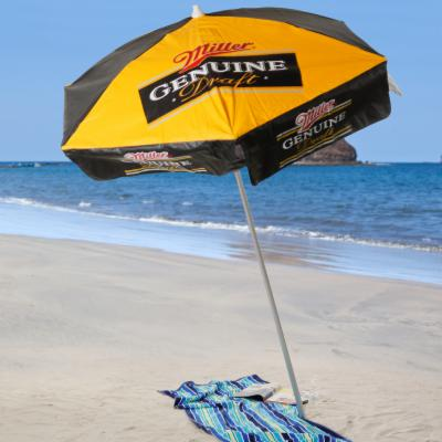 Miller Genuine Draft 6 ft. Beach Umbrella