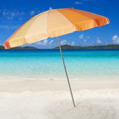 Parasol 8 ft. Gradation Orange Beach Umbrella