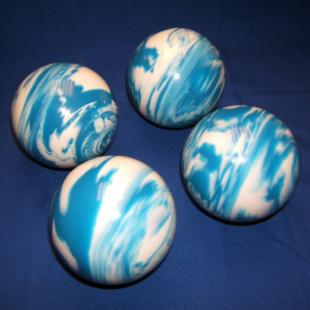 EPCO 4 Ball 107mm Personalized Tournament Set Pro Bocce Set - Marbled Blue/White