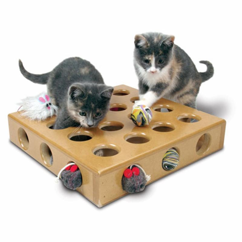 Pioneer Pet SmartCat Peek-A-Prize Toy Box with 2 Toys