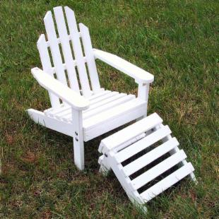Prairie Leisure Kiddie Adirondack Chair and Ottoman