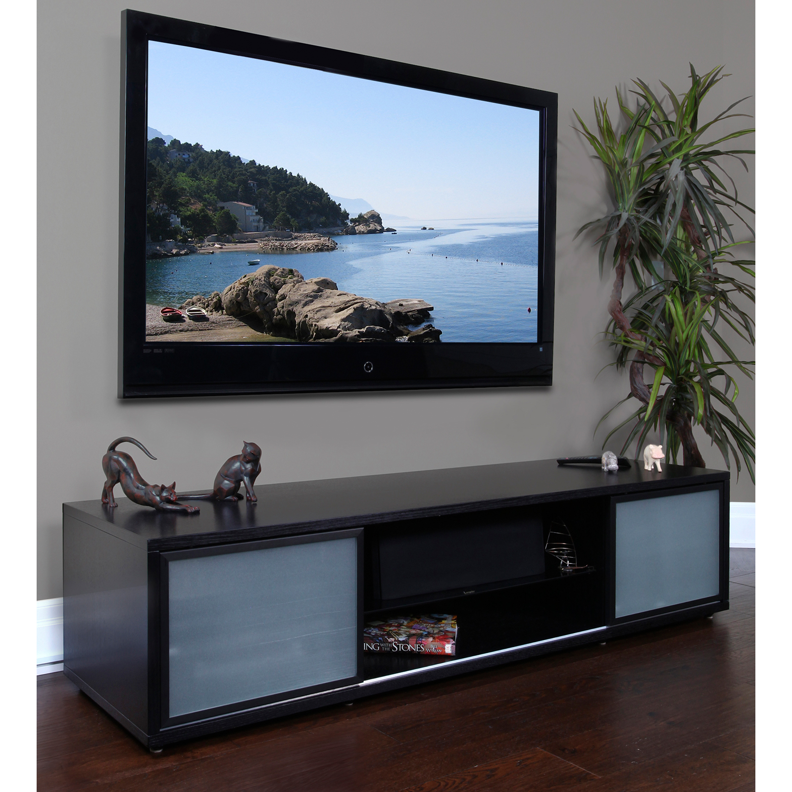 Plateau Srv Series 75 Inch Tv Stand In Black Do Not Use