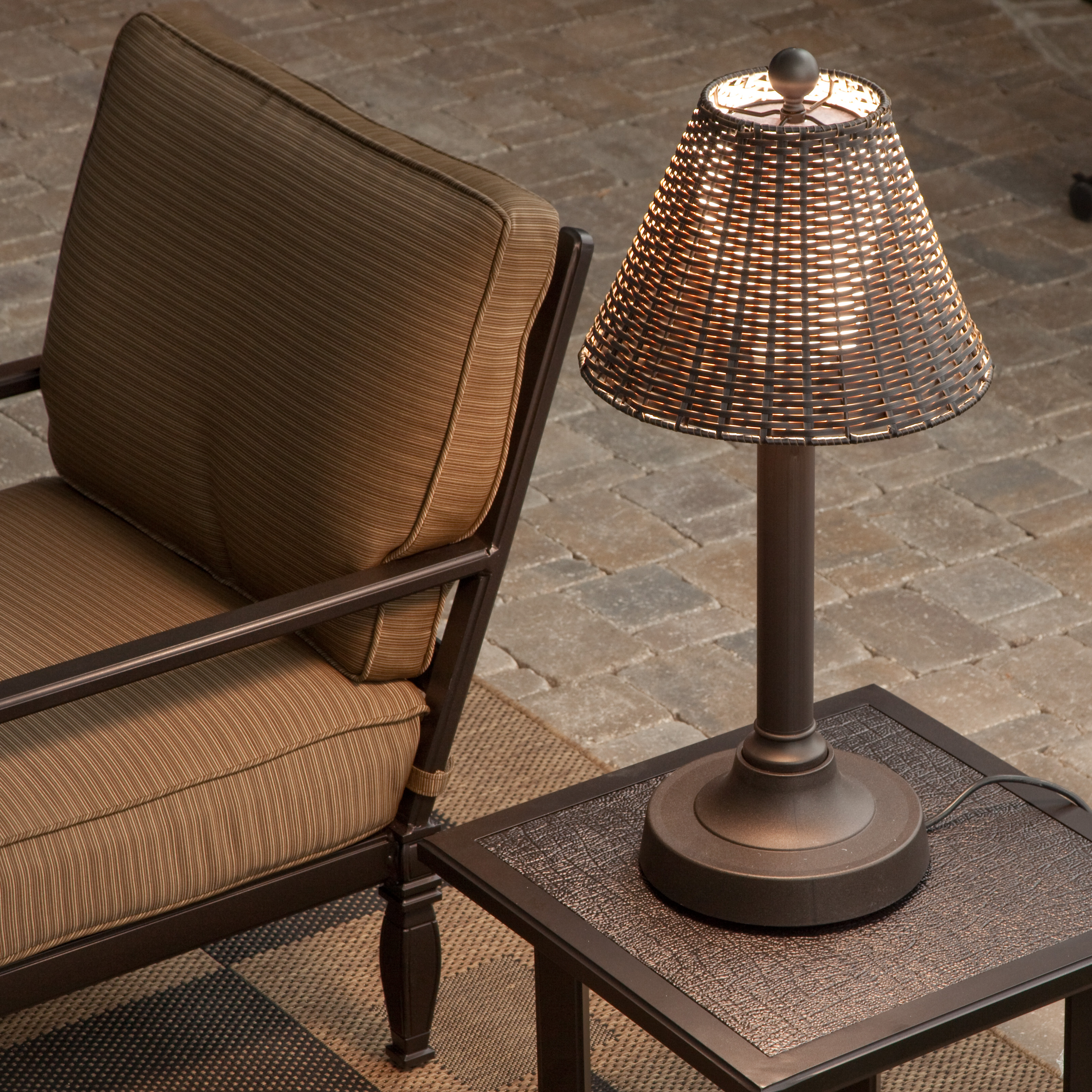 Tahti outdoor patio table lamp outdoor lamps at hayneedle for Patio lamps outdoor lighting