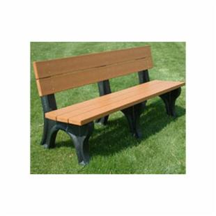 Polly Products Traditional 6-ft. Recycled Plastic Commercial Park Bench