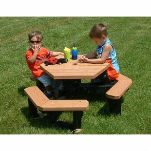 Polly Products Youth Open Hexagon Picnic Table
