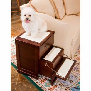 Primetime Petz 3 in 1 Night Stand Drawer Step - Walnut - 3 Step