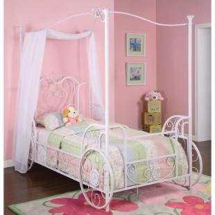 Powell Princess Emily Canopy Bed