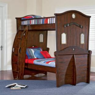 Shiver Me Timbers Twin over Twin Bunk Bed