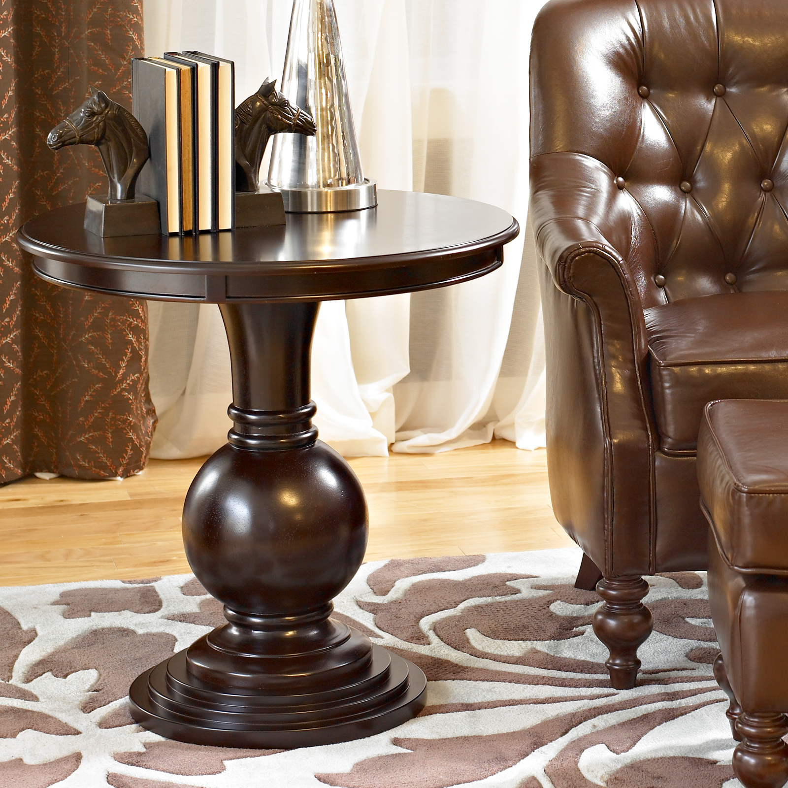 Espresso Round Accent Table End Tables At Hayneedle