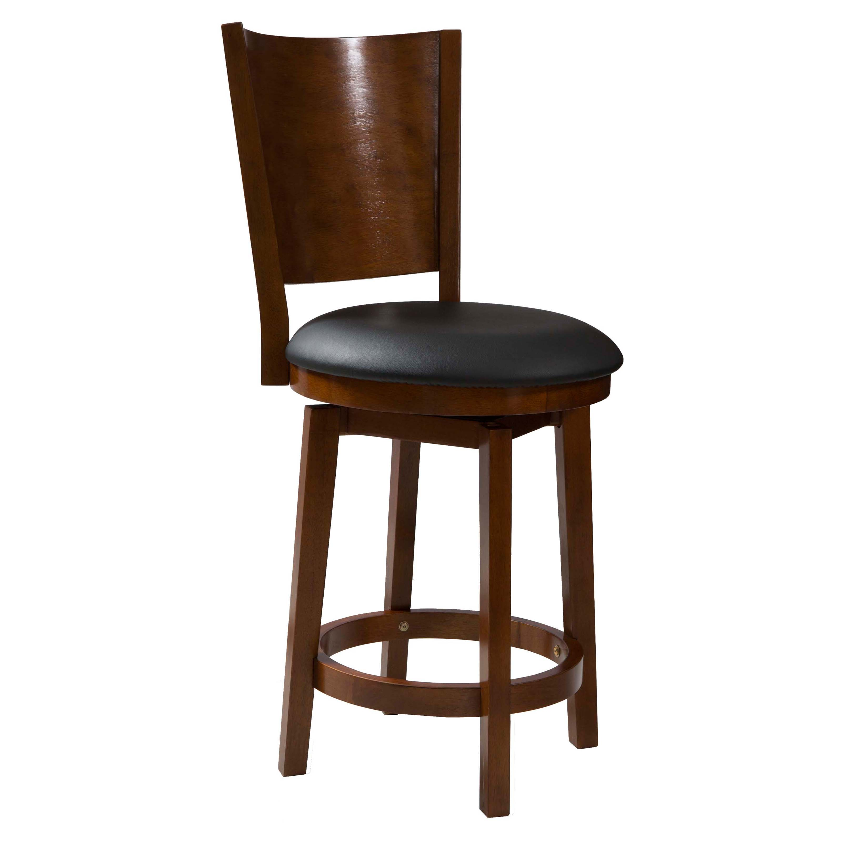 Powell Big Tall Solid Back Wood Counter Stool Bar Stools