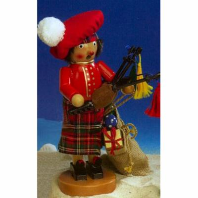 Steinbach Scottish Santa Christmas Smoker Signed