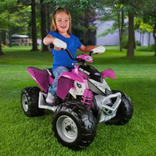 Peg-Perego Battery Powered Pink Polaris Outlaw ATV