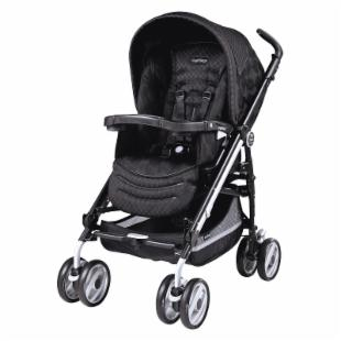 Peg Perego Pliko Switch Compact Stroller - Pois Black
