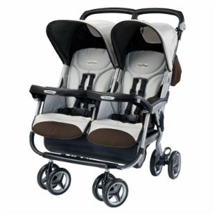 Peg Perego Aria Twin 60/40 Side by Side Stroller - Java