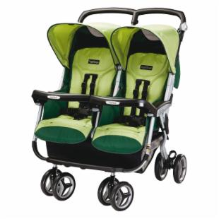 Peg Perego Aria Twin 60/40 Side by Side Stroller - Myrto
