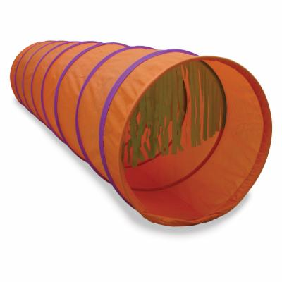  Tickle Me 6 ft. Tunnel   Orange with Purple Trim