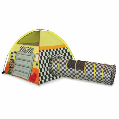  Pacific Play Tents Pit Stop Garage and 6 ft. Tunnel Combo