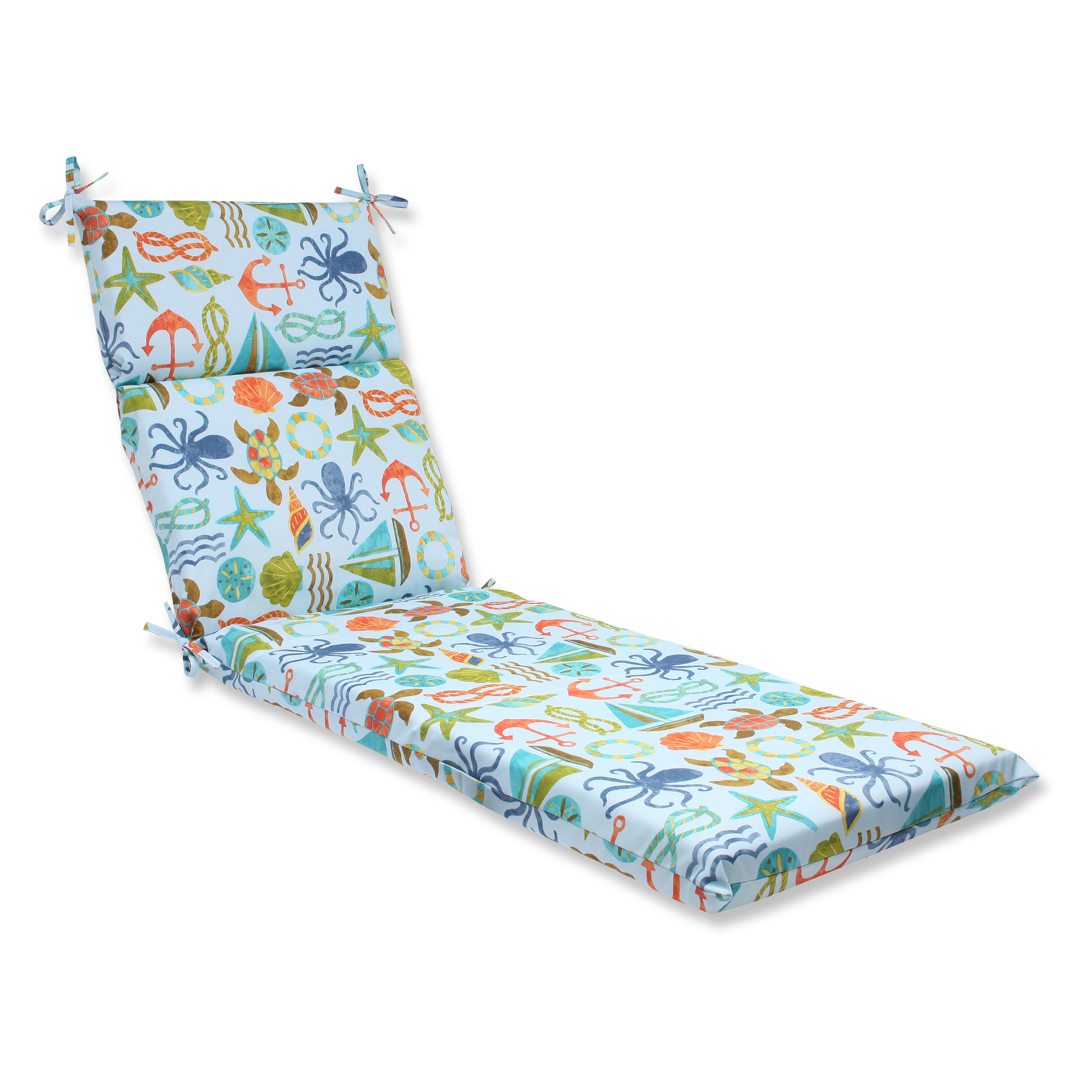 Pillow perfect seapoint chaise lounge cushion outdoor for Chaise lounge cushion covers outdoor