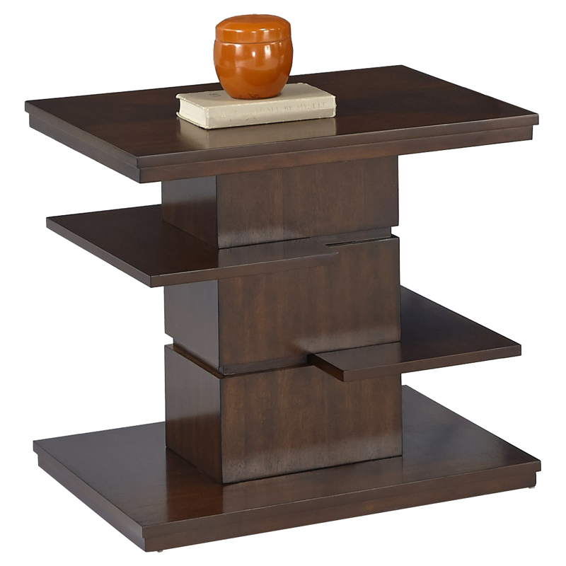 Waterfall Ends Kitchen Bench: Progressive Furniture Waterfall Rectangular End Table