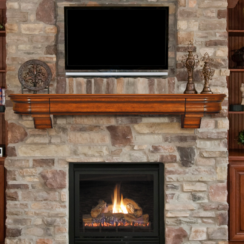 Pearl mantels abingdon fireplace mantel shelf with secret - Pictures of fireplace mantels ...