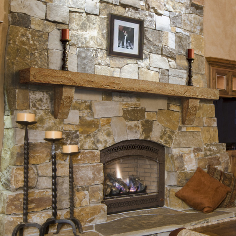 Gallery for rustic stone fireplace mantels - Pictures of fireplace mantels ...