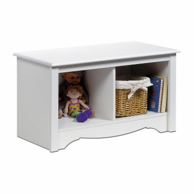 Prepac White Monterey Twin Cubbie Bench