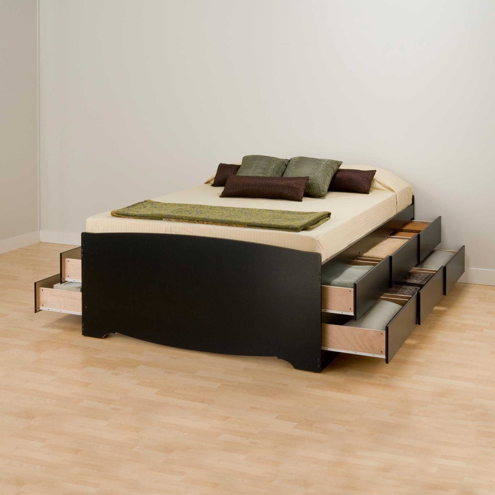 Tall Storage Platform Bed - Platform Beds at Hayneedle